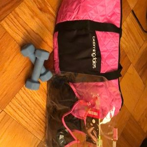 Gym bag and sports bra